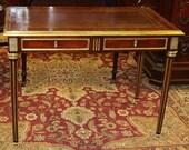 Rare Brass Mounted Fluted Louis XVI Maison Jansen Attr Ladies Writing Desk C1920