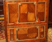 Best French Bronze Marble Satinwood Tall Dresser Chiffonier RESTORED Mint 1890