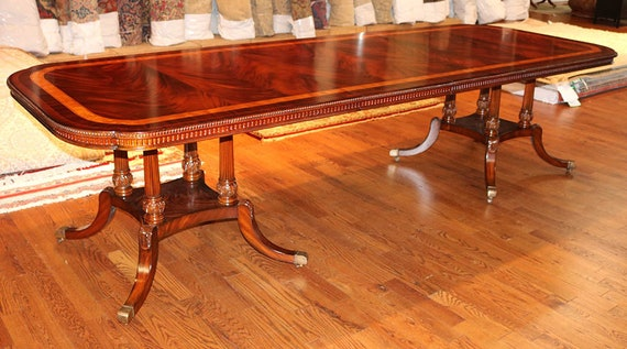 Fabulous Outstanding Flame Mahogany Slim Profile Regency Dining Table W 2 Leaves Mint Andrewgaddart Wooden Chair Designs For Living Room Andrewgaddartcom