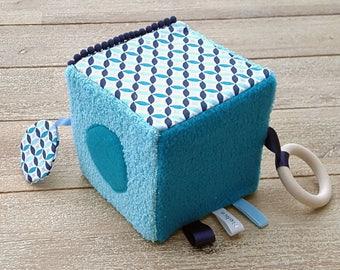 Educational multisensory blue cube
