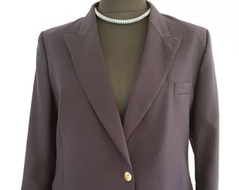 Navy blue ladies blazer jacket | Vintage Austin Reed | UK Size 10