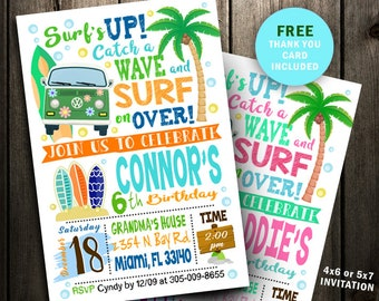 image regarding Beach Party Invitations Free Printable named Seaside celebration invite Etsy