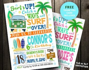 image regarding Beach Party Invitations Free Printable named Seaside celebration invite Etsy