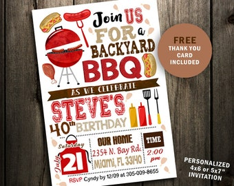 Bbq invitation etsy backyard bbq invitation invite bbq birthday digital file backyard party cookout barbecue grilling summer printable 4th of july invitations filmwisefo