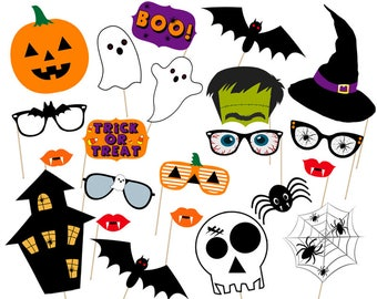 graphic regarding Halloween Photo Booth Props Printable Free referred to as Halloween photobooth Etsy