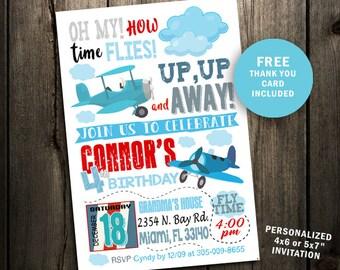 Plane Invitation Airplane Vintage Party Birthday Printables Invites