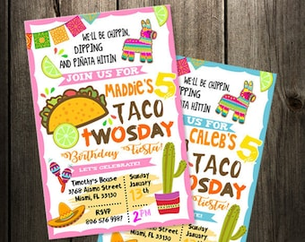 taco invitation etsy