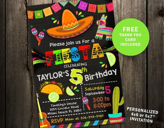 f28dd998fc09 Fiesta Birthday Party Invitation Fiesta Invitation First