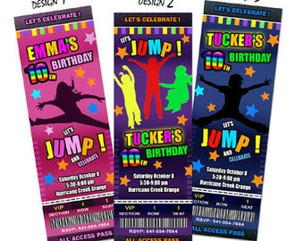 jump party invitation