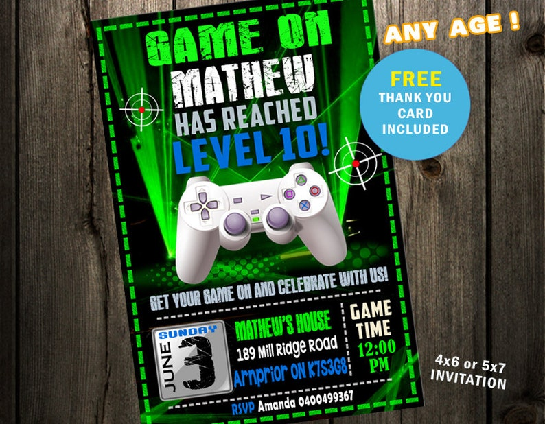 photograph regarding Free Printable Video Game Party Invitations known as Video clip Recreation Bash Invites, Movie Activity Invitation, Movie Activity Birthday, Gaming Get together invite Activity Get together printable electronic history print arcade