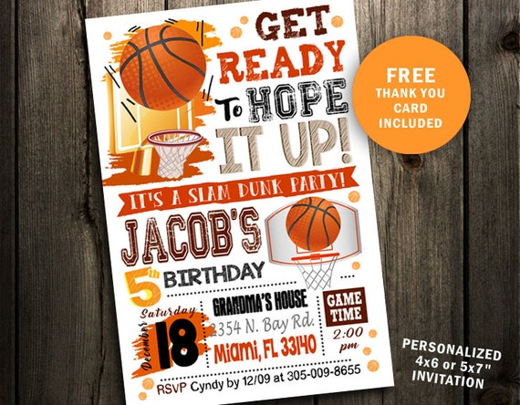 Basketball Birthday Invitation Party Printable Sports Ticket Instant Download First Basket Ball 1st Card