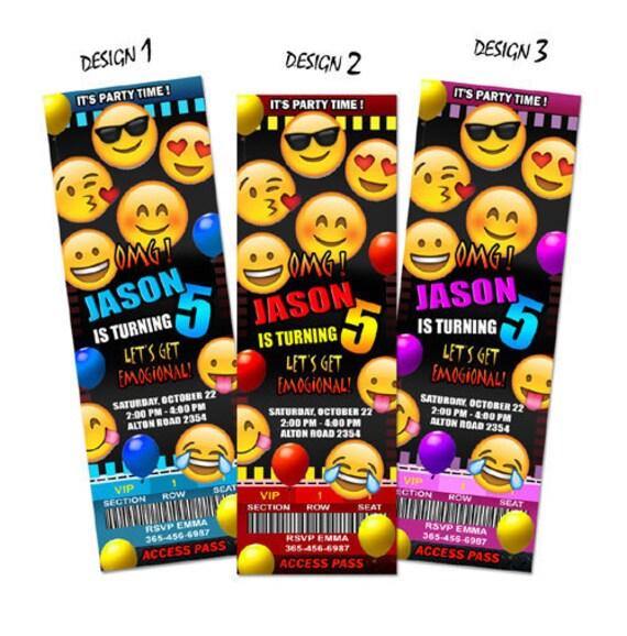 Fiesta De Cumpleaños Invitación Emoji Invitan Tarjeta Imprimible Personalizado Archivo Digital Impresión Personalizada Primera 1 Omg Bebé Ducha