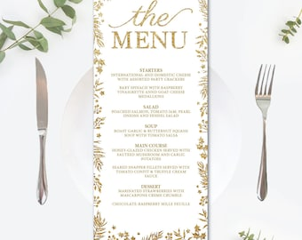 printable menu etsy