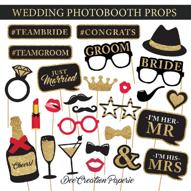 graphic about Wedding Photo Booth Props Printable called Printable Marriage ceremony Photobooth Props - Glam Marriage ceremony Photograph Booth Props - Bachelorette Bash Props - Prompt Obtain