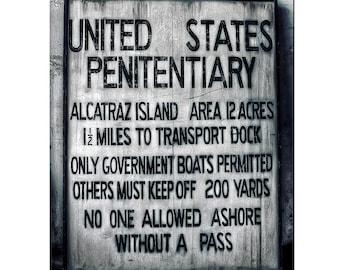 ALCATRAZ man cave garage decor US PENITENTIARY PRISON SIGN REPRODUCTION