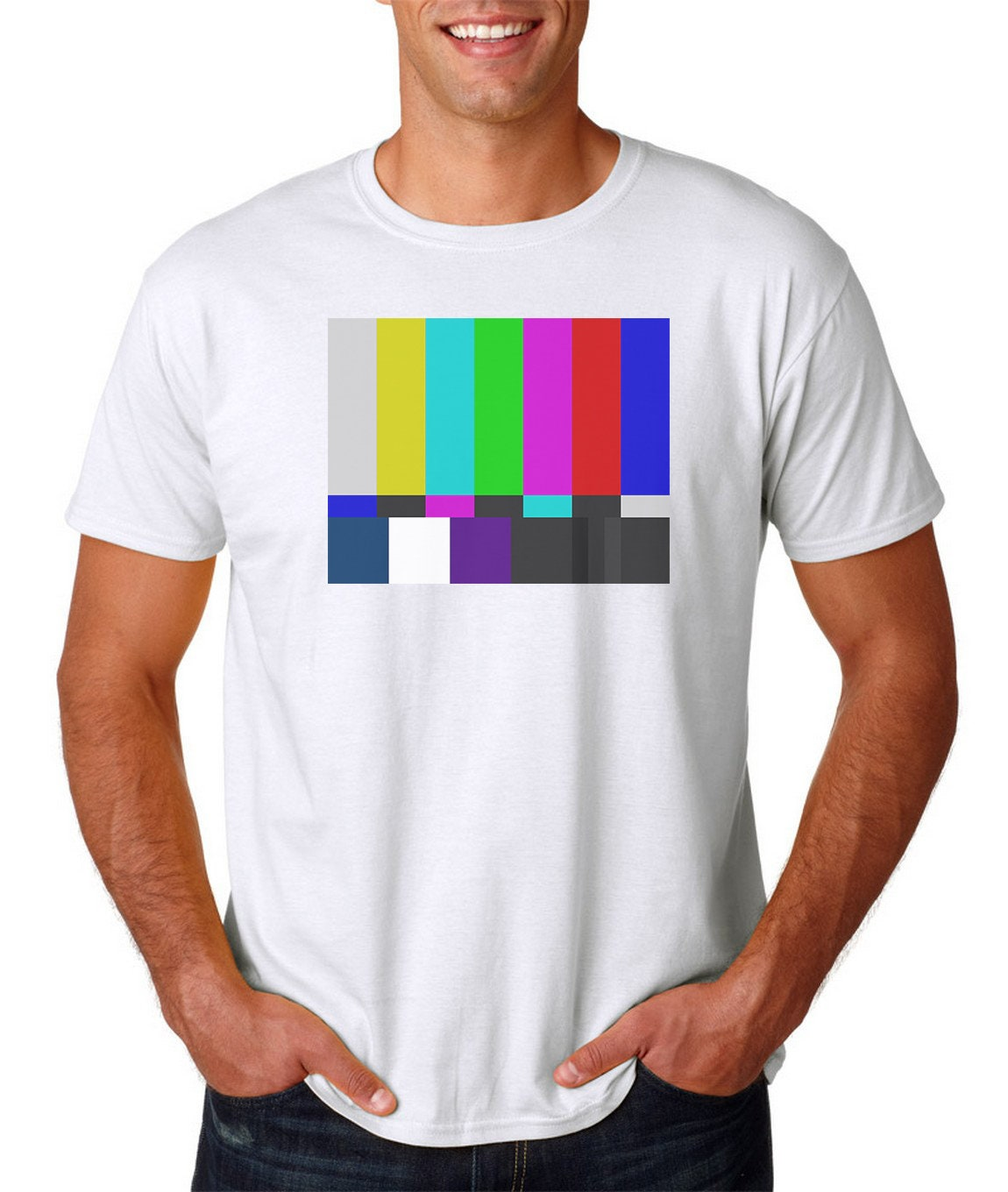 il_fullxfull.1512248064_eej2 tv color test pattern t shirt s 3xl television off air big etsy
