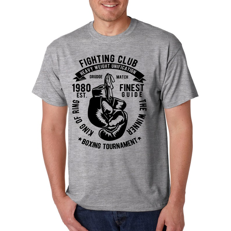 Fight Club Boxing T-Shirt / MMA Sports Gym Workout Strength Training Tee