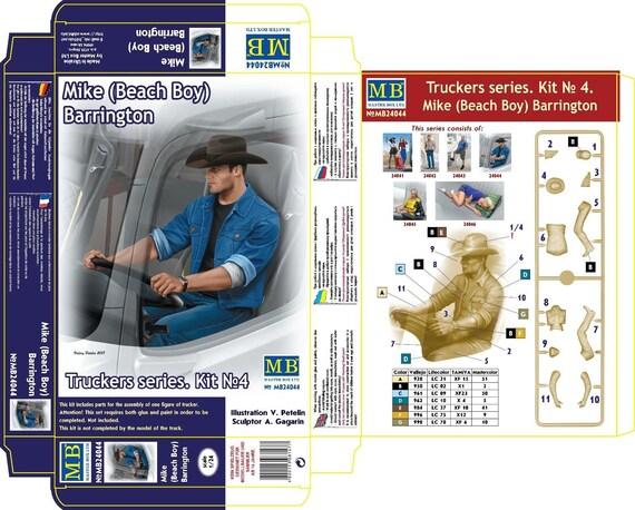 Truckers Series Johnson /& her dog Maxx 1//24 MasterBox 24045 Joni Lookout