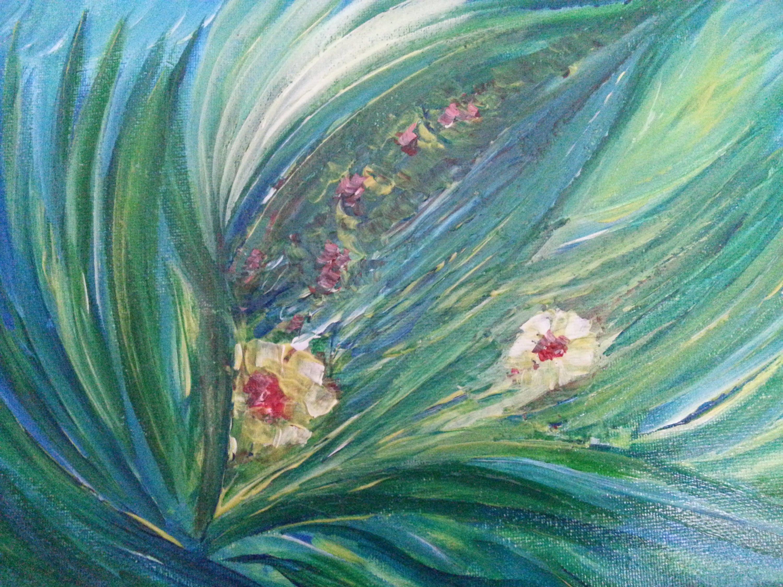 Abstrakt Acryl-Malerei abstrakte Blumen Acryl abstrakte | Etsy