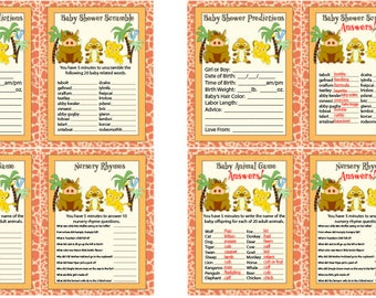 DIY Lion King Lion Guard Baby Shower Games