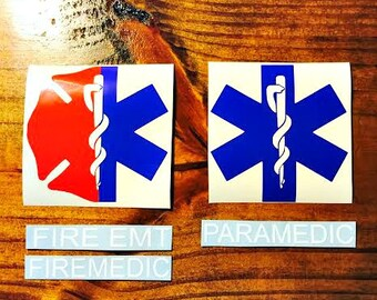 FIREMEDIC Yeti Decal / Firefighter EMT Decal / Paramedic Decal / Firefighter / Paramedic / EMT / Car Decal