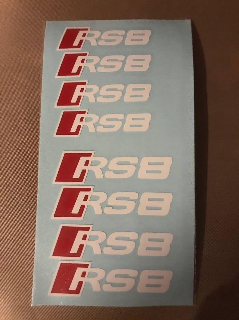 8pc Custom Audi R8 Brake Caliper Vinyl Sticker Decal Logo Overlay Graphic