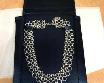 e10062ecd Tiffany & Co. Sterling Silver 3 Row Chain Link Necklace