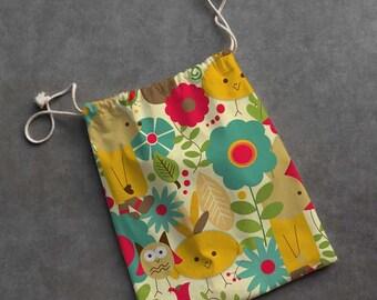 Small Cloth Gift Bag/Bunny Garden