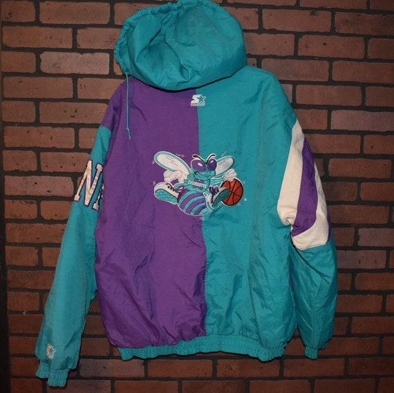 8610abb39a5 Vintage 90s Charlotte Hornets Starter Jacket