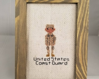 Coast Guard Military Cross Stitch