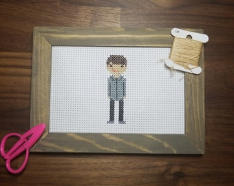 Custom Single Person Cross stitch Portrait