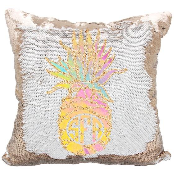 Pineapple Monogram Throw Pillow