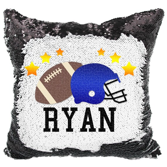 Boy sequin pillow | Etsy