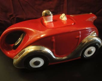 Racing Car Tea Pot in Red limited edition of 100
