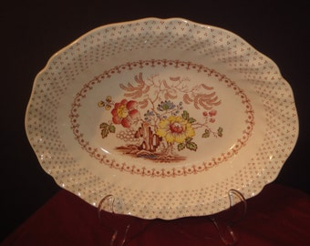 oval bowl made by royal doulton grantham 5472 dia size  26cm