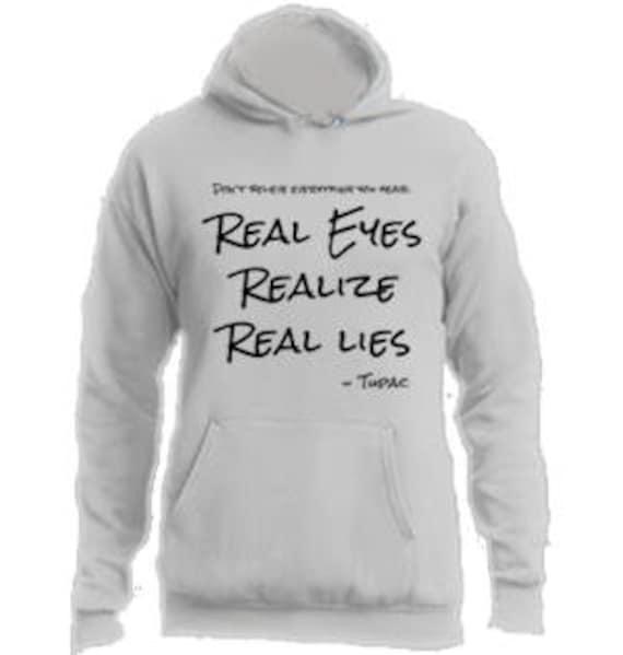 negozio online 602e8 63913 Real Eyes realizzare reali bugie Tupac felpa con cappuccio #A001 / / Tupac  Felpe con cappuccio / / 2Pac abbigliamento / / Mens felpa / / Womens ...