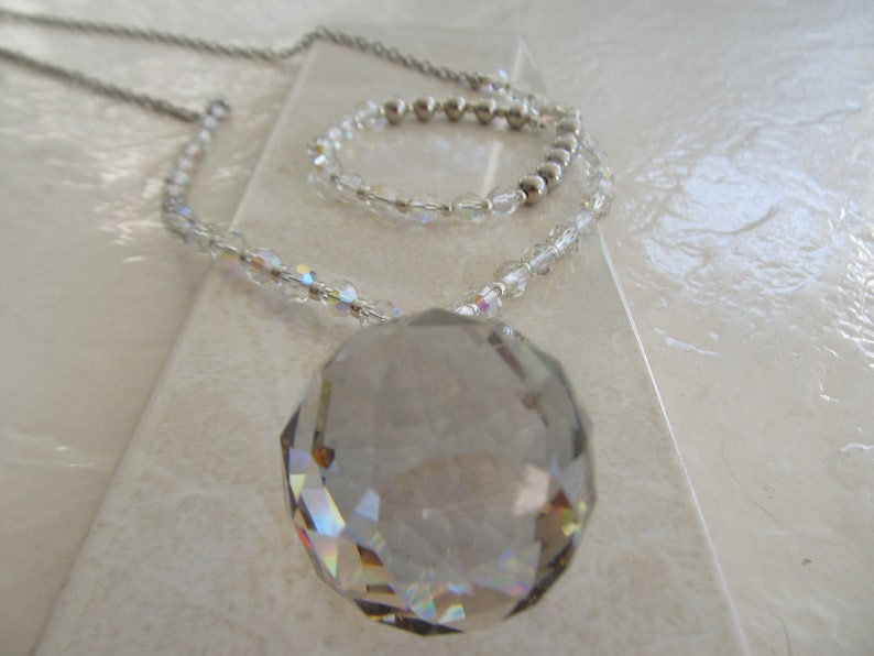 Egyptian Crystal Ball Necklace
