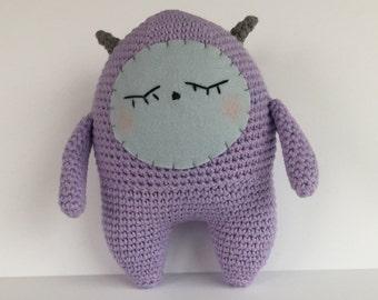 Amigurumi Monster, Crocheted Monster, Shy Monster, Plush Monster, Friendly Amigurumi Monster