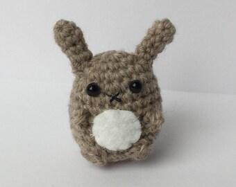 Miniature Amigurumi Bunny, Amigurumi Rabbit, Crocheted Bunny, Rabbit Plushie, Plush Bunny