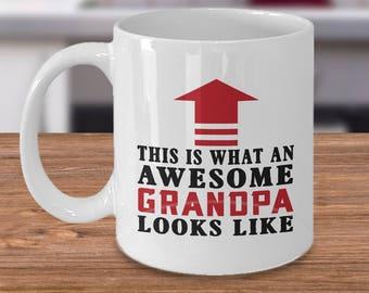 Awesome Grandpa Mug | Grandpa Gift | Funny Grandpa Gift | New Grandpa | Grandparent Gifts | New Grandpa Gift | Gifts for Grandpa
