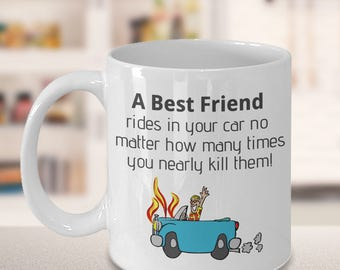 Best Friend White Ceramic Coffee Mug, Home and Living Drinkware, Best Friend Mug