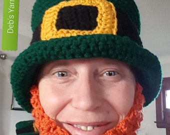 St. Patrick's day top hat with beard