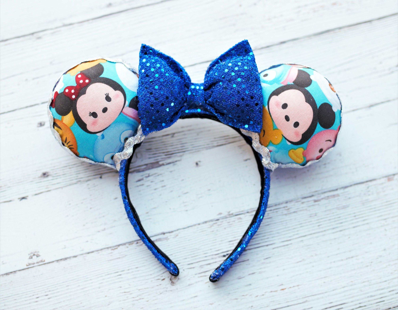 2081e60913 Free shipping, mickey, Minnie, blue, minnie mouse ears, mickey mouse ears,  disney, tsum tsum minnie ears, headband, disney ears, minnie ears