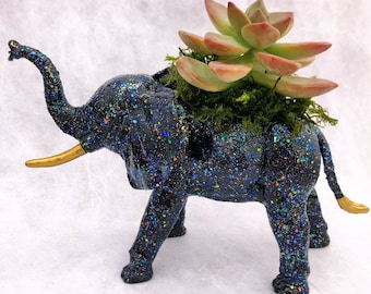 Teacher Gift Custom Elephant Planter with Air Plant Room Decor Party Favor Birthday Gift Home Decor Zoo Party
