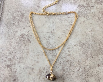JACLYN crystal chain choker necklace