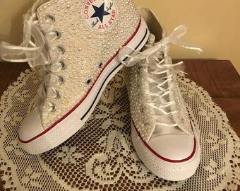 Bridal Wedding Converse Wedge Sneakers b57d7dccb