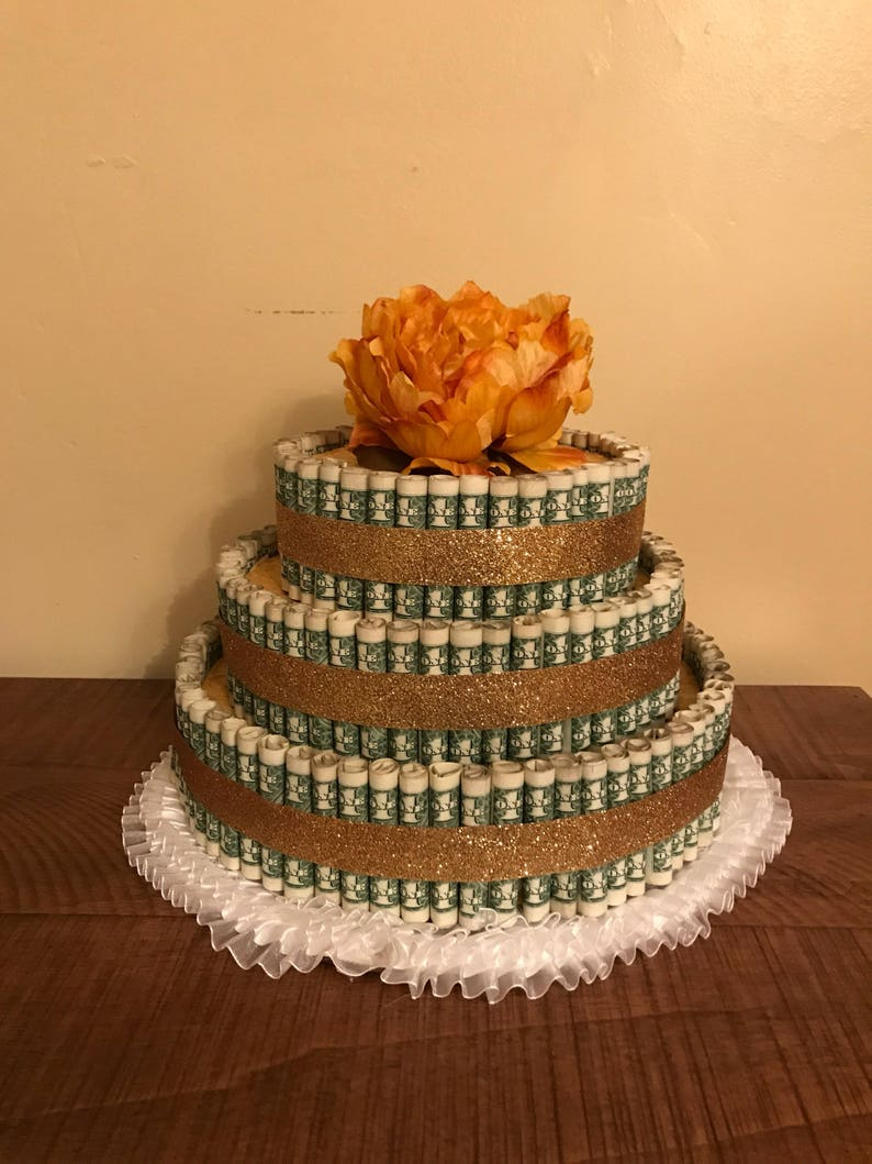 Money Cake Centerpiece Birthday Shower Retirement Anniversary Graduation Gift