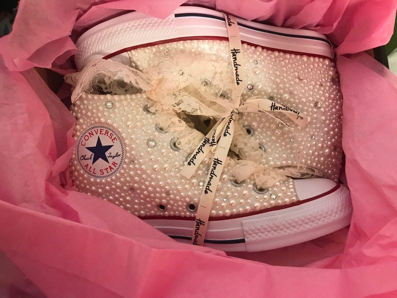 4418bd06d4bc69 Wedge Converse   Bling Converse   prom sneakers   wedding