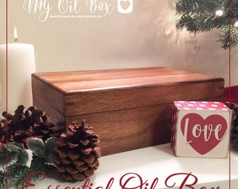 Essential Oil Box Storage, wood box,  Keepsake, Memory box, Bamboo Box, Free Engraving — SCRATCH & DENT SALE