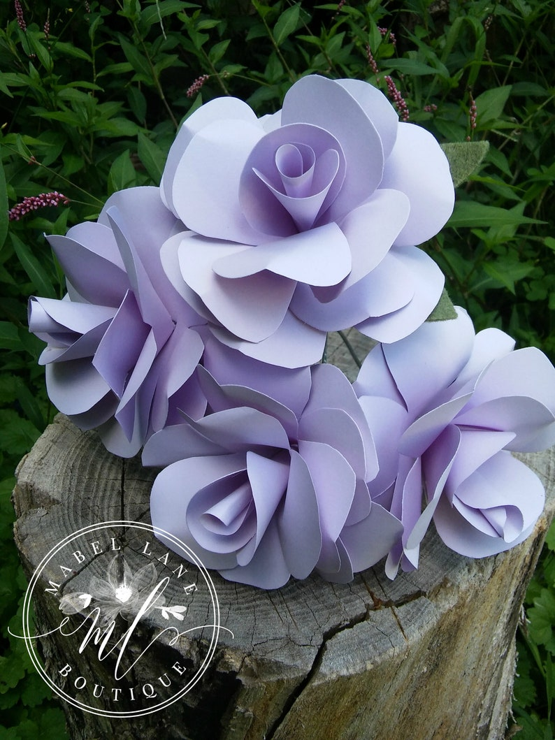 Wholesale Paper Flowers Any Color Paper Roses Wedding Etsy